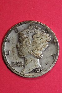 1926 P MERCURY DIME 90  SILVER EXACT COIN SHOWN  FLAT RATE SHIPPING OCE 010