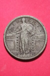 1917 P TYPE 1 STANDING LIBERTY QUARTER EXACT COIN SHOWN FLAT RATE SHIP OCE407