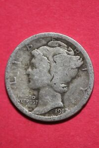 1917 P WINGED MERCURY DIME EXACT COIN SHOWN 90  SILVER FLAT RATE SHIPPING TOM523
