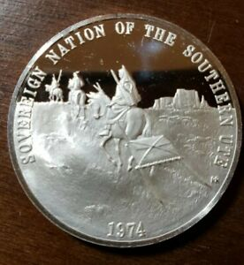 VINTAGE 999 SILVER SOVEREIGN NATION OF THE SOUTHERN UTE TRIBE COIN