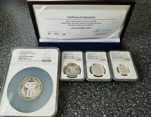Click now to see the BUY IT NOW Price! 2004 SOMALIA SILVER ELEPHANT PROOF SET PF69 PF70 NGC