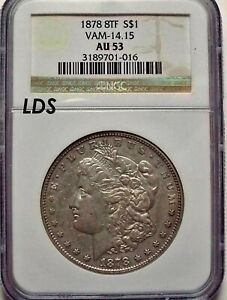 Click now to see the BUY IT NOW Price! 1878 8TF $1 MORGAN DOLLAR VAM 14.15 LDS NGC AU53  R 7 FIND .