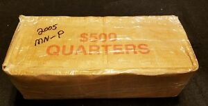 Click now to see the BUY IT NOW Price! 2005 P MINNESOTA  QUARTERS  FULL $500 BOX  50 OBW ROLLS  NEVER OPENED