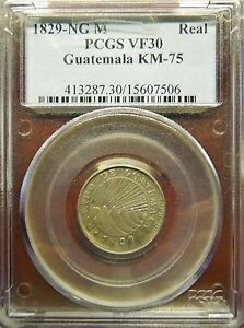 Click now to see the BUY IT NOW Price! VERY  PROVISIONAL GUATEMALA 1829 NG M REAL KM75. PCGS VF30  UNDERGRADED