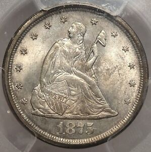 Click now to see the BUY IT NOW Price! 1875 S TWENTY CENT PIECE GEM BU PCGS MS 65 CLASSIC ORIGINAL TYPE COIN WOW
