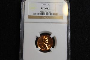 1963 LINCOLN MEMORIAL CENT NGC PF66 RED