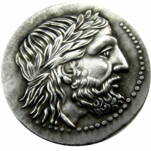 ANCIENT GREEK SILVER TETRADRACHM COIN OF KING PHILIP II OF MACEDON   3