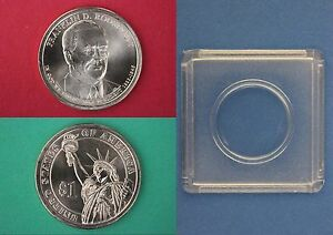 2014 D FRANKLIN ROOSEVELT DOLLAR WITH 2X2 SNAP FROM MINT SET FLAT RATE SHIPPING