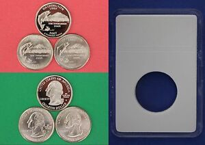 2007 D P S WASHINGTON QUARTERS WITH DIY SLABS FROM MINT SETS COMBINED SHIPPING