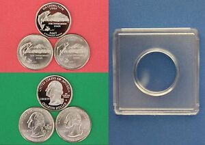 2007 D P S WASHINGTON QUARTERS WITH 2X2 SNAPS FROM MINT SETS COMBINED SHIPPING