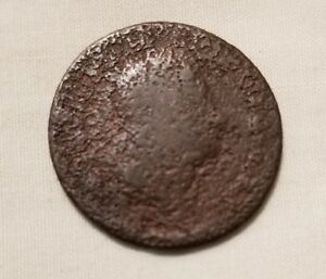 1740S BRITISH COLONIAL FARTHING DUG BALLSTON SPA SARATOGA COUNTY UPSTATE NY