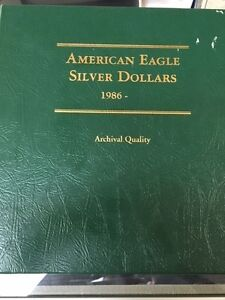 Click now to see the BUY IT NOW Price! 1986 2009 AMERICAN EAGLE SILVER DOLLAR COLLECTION   24 ASE COINS TOTAL