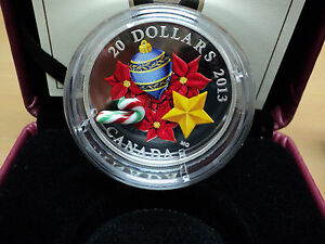 Click now to see the BUY IT NOW Price! 2013 CANADA SILVER HOLIDAY MURANO GLASS CANDY CANE COIN 7229