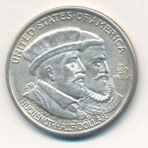 1924 HUGUENOT SILVER COMMEMORATIVE HALF DOLLAR VERY NICE  SHIPS FREE  INV:2