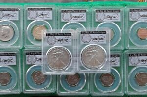 Click now to see the BUY IT NOW Price! POP 150 CLEVELAND 2017 S SILVER EAGLES SP70 10 COIN SET FDOI  DENVER ANA PCGS