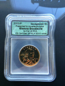 Click now to see the BUY IT NOW Price! 2000 P GLENNA GOODACRE SACAGAWEA DOLLAR $1   ICG CERTIFIED   ONLY 5000 MINTED