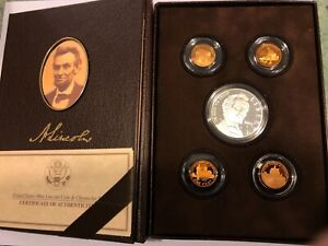 LINCOLN COIN AND CHRONICLES SET UNITED STATES MINT