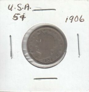 US 5 CENT COIN 1906