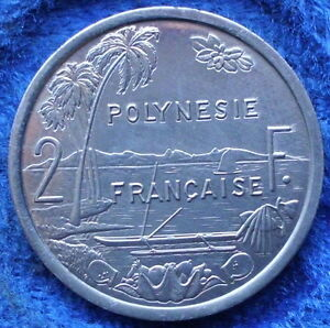 FRENCH POLYNESIA   2 FRANCS 1986 KM 10 FRENCH OVERSEAS   EDELWEISS COINS