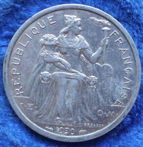 FRENCH POLYNESIA   2 FRANCS 1990 KM 10 FRENCH OVERSEAS   EDELWEISS COINS