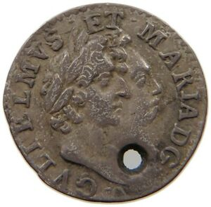 GREAT BRITAIN MAUNDY 2 PENCE 1689 WILLIAM MARY T73 149