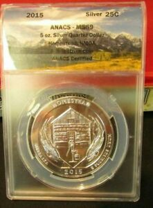 2015 AMERICA THE BEAUTIFUL  HOMESTEAD NMOA 5 OZ SILVER ANACS MS69 FS