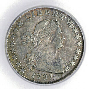 1797 DRAPED BUST HALF DIME   ICG FINE VF25    PROBLEM FREE  SALE