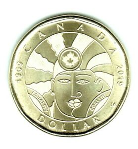1969   2019   EQUALITY LOONIE NEAR PERFECT COIN