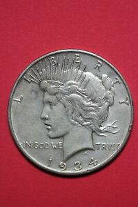 1934 D LIBERTY PEACE SILVER DOLLAR EXACT COIN SHOWN FLAT RATE SHIPPING TOM 345