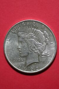 1922 P LIBERTY PEACE SILVER DOLLAR EXACT COIN SHOWN FLAT RATE SHIPPING TOM 245