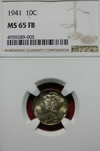 1941 P FB MS 65 MERCURY DIME NGC CERTIFIED GRADED SLAB COMBINED SHIPPING OCE1124