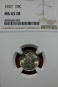 1937 P FB MS 65 MERCURY DIME NGC CERTIFIED GRADED SLAB COMBINED SHIPPING OCE1121