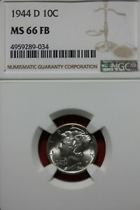 1944 D FB MS 66 MERCURY DIME NGC CERTIFIED GRADED SLAB COMBINED SHIPPING OCE1131