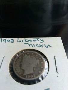 1903 LIBERTY V NICKEL FIVE  5  CENT PIECE