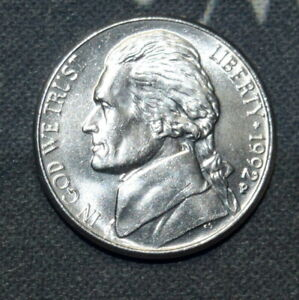 1992 P BU JEFFERSON NICKEL