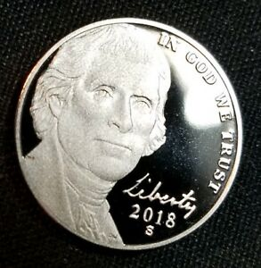 2018 S PROOF JEFFERSON NICKEL DEEP CAMEO