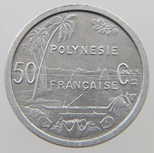 POLYNESIA 50 CENTIMES 1965 TOP SF 105