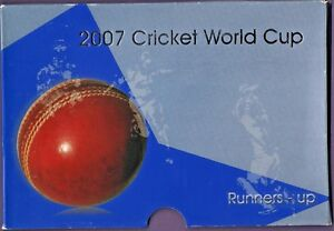 CRICKET 2007 WORLD CUP PRESENTATION PACK WITH 2 MINT COINS