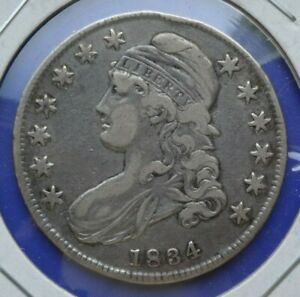 1834 CAPPED BUST HALF DOLLAR     NICE EXAMPLE