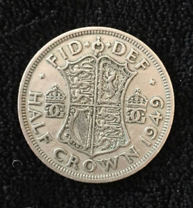 1949 HALF CROWN COIN  GREAT BRITAIN KING GEORGE