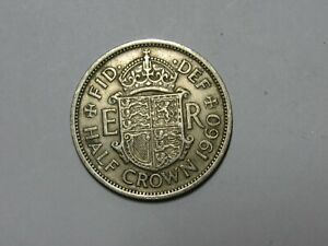 OLD GREAT BRITAIN COIN   1960 HALF CROWN HALFCROWN   CIRCULATED
