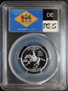 Click now to see the BUY IT NOW Price! 1999 S  SILVER WASHINGTON DELAWARE FLAG LABEL QUARTER  PCGS PR70DCAM