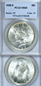 Click now to see the BUY IT NOW Price! 1928 S PCGS MS65 ONLY ONE GRADED HIGHER  CONDITION RARITY  WOW PEACE DOLLAR $1