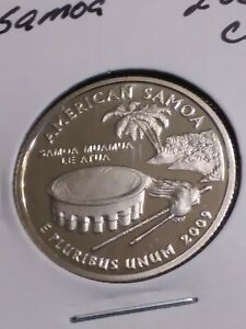2009 S AMERICAN SAMOA TERRITORIAL QUARTER NEW U.S. CLAD PROOF COIN