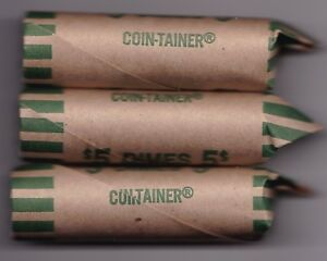 1982 CIRCULATED ROLL OF 50 CANADIAN 10C COINS   1 ROLL