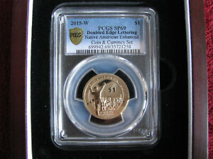 Click now to see the BUY IT NOW Price! 2015 W $1 PCGS SP69 NATIVE AMERICAN ENHANCED DOUBLE EDGE LETTERING ERROR
