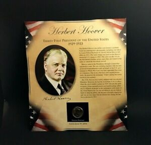 2014 HERBERT HOOVER  PRESIDENTIAL DOLLAR COIN & STAMPS    BRADFORD EXCHANGE