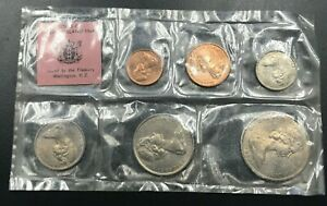 NEW ZEALAND   1968 UNCIRCULATED MINT SET   1 CENT TO 50 CENT    6  COINS