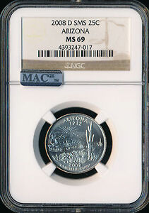 Click now to see the BUY IT NOW Price! 2008 D ARIZONA QUARTER NGC MAC MS69 SMS  FINEST REGISTRY SPOTLESS POP 14