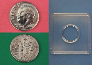 1993 D ROOSEVELT DIME WITH 2X2 SNAP FROM MINT SETS COMBINED SHIPPING